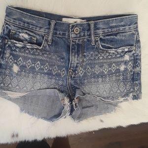 Hollister tribal  jean shorts